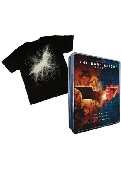 The Dark Knight - La trilogie (Coffret DVD + T-shirt) - DVD