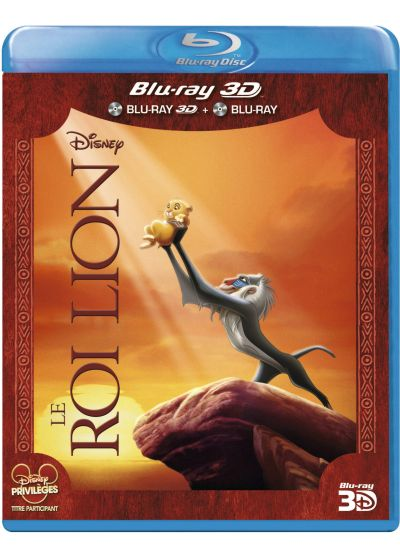 Le Roi Lion (Combo Blu-ray 3D + Blu-ray 2D) - Blu-ray 3D