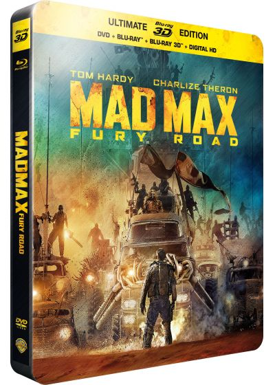 Mad Max : Fury Road (SteelBook Ultimate Édition - Blu-ray 3D + Blu-ray + DVD + Copie digitale) - Blu-ray 3D