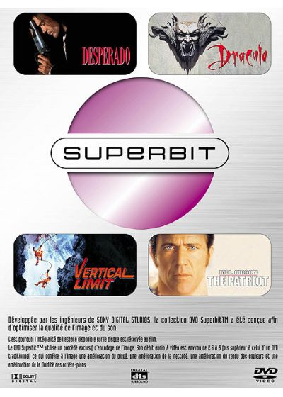 Superbit - Coffret 2 - Desperado, Dracula, Vertical Limit, The Patriot - DVD