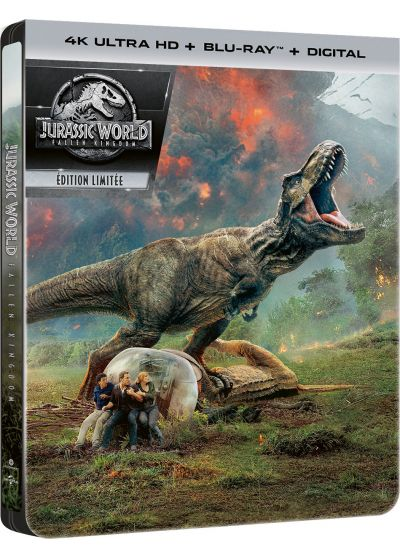 Jurassic World : Fallen Kingdom (4K Ultra HD + Blu-ray + Digital - Édition boîtier SteelBook) - 4K UHD