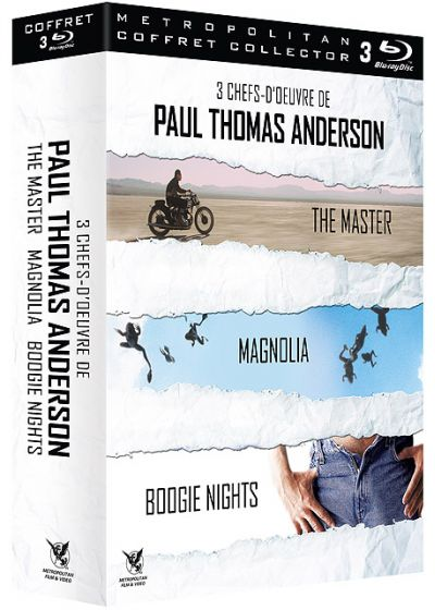 3 chefs-d'oeuvre de Paul Thomas Anderson : Boogie Nights + Magnolia + The Master (Pack) - Blu-ray
