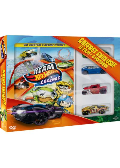 Team Hot Wheels : la légende (Coffret 4 voitures) - DVD