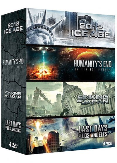 Fin du monde - Coffret 4 films : 2012 : Ice Age + Humanity's End - La fin est proche + Sinking of Japan + Last Days of Los Angeles (Pack) - DVD