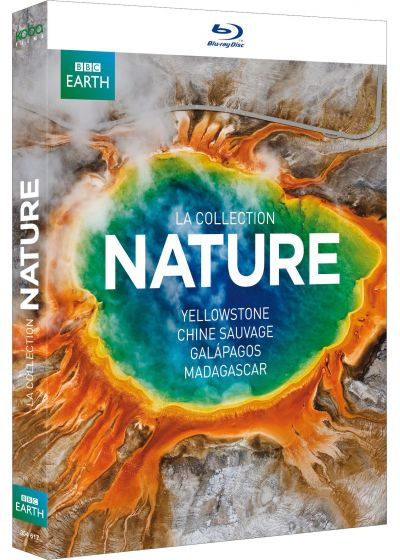 BBC Earth : Yellowstone + Madagascar + Chine sauvage + Galapagos (Pack) - Blu-ray