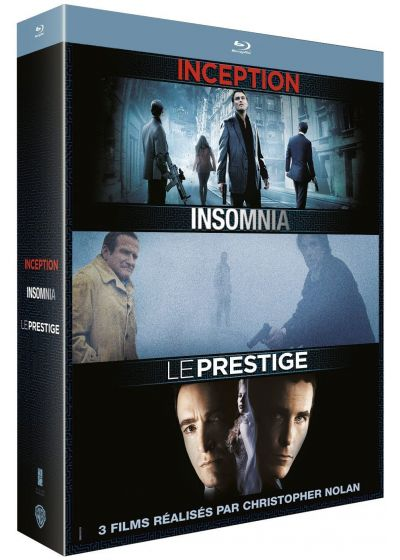 3 films réalisés par Christopher Nolan : Inception + Insomnia + Le Prestige (Pack) - Blu-ray