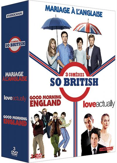 3 comédies So British : Mariage à l'anglaise + Good Morning England + Love Actually (Pack) - DVD