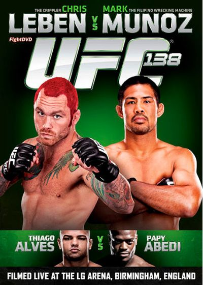 UFC 138 : Chris Leben vs Mark Munoz - DVD