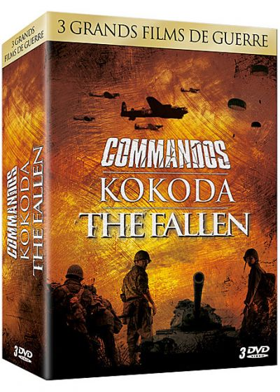 3 grands films de guerre - Coffret n° 1 : Commandos + Kokoda : Le 39ème bataillon + The Fallen (Pack) - DVD