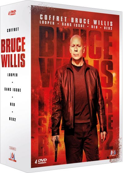 Coffret Bruce Willis : Looper + Sans issue + RED + RED 2 (Pack) - DVD