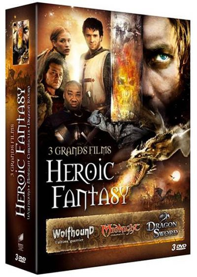 3 grands films d'Heroic Fantasy : Wolfhound + Midnight Chronicles + Dragon Sword (Pack) - DVD