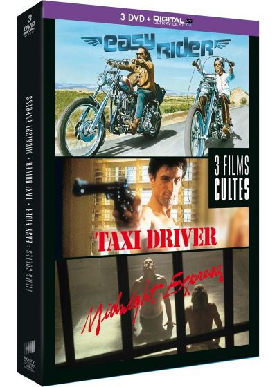 Films cultes - Coffret - Easy Rider + Taxi Driver + Midnight Express (DVD + Copie digitale) - DVD