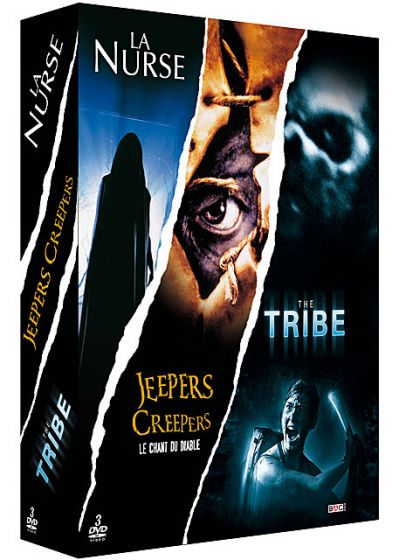 Frissons : La nurse + Jeepers Creepers - Le chant du diable + The Tribe - L'île de la terreur (Pack) - DVD