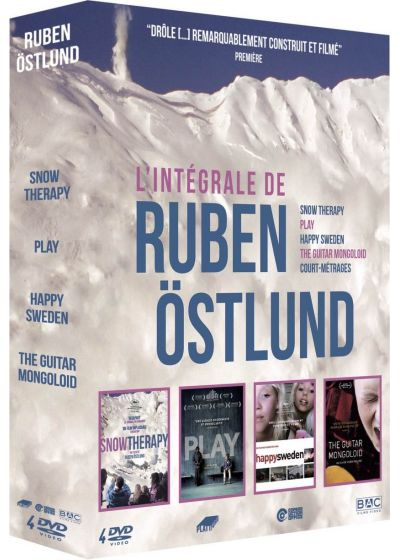 Ruben Östlund - Intégrale 4 films : Snow Therapy + Play + Happy Sweden + The Guitar Mongoloid + courts métrages - DVD