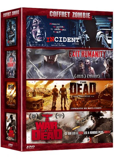 Coffret Zombie : Incident + Exit Humanity + The Dead + War of the Dead (Pack) - DVD