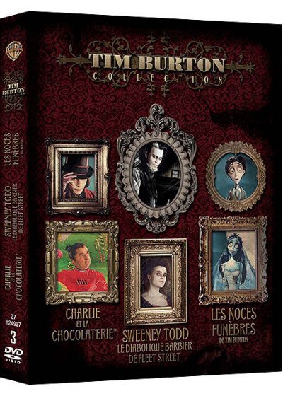 Tim Burton Collection - Coffret - Sweeney Todd + Charlie et la chocolaterie + Les noces funèbres (Pack) - DVD
