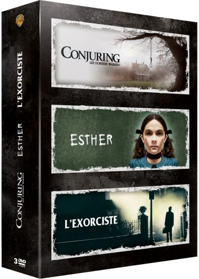 Conjuring : les dossiers Warren + L'exorciste + Esther (Pack) - DVD