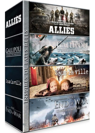 Guerre : Allies + Gallipoli - La bataille des Dardanelles + Sous la ville + 1945 - End of War (Pack) - DVD
