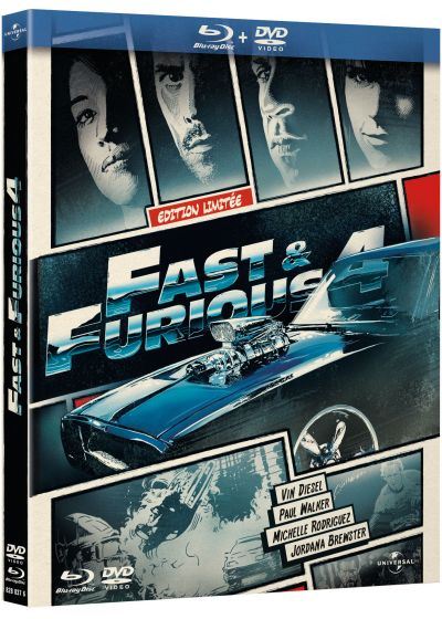 Fast & Furious 4 (Édition Comic Book - Blu-ray + DVD) - Blu-ray