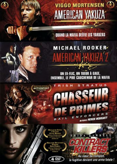 Coffret Action Fight : American Yakuza + American Yakuza 2 + Chasseur de primes + Contract Killers (Pack) - DVD