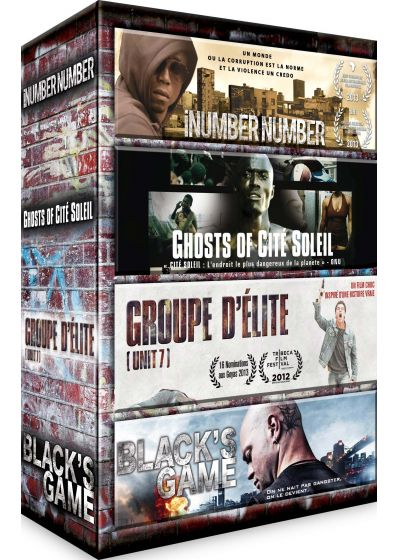 Ghetto : iNumber Number + Ghosts of Cité Soleil + Groupe d'élite + Black's Game (Pack) - DVD