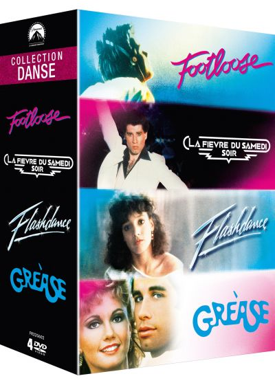 Paramount Collection Danse : Footloose + La fièvre du samedi soir + Flashdance + Grease (Pack) - DVD