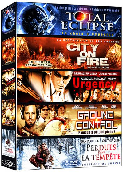 Catastrophe - Coffret 5 films n° 2 : Total Eclipse + City on Fire + Urgency + Ground Control + Perdues dans la tempête (Pack) - DVD