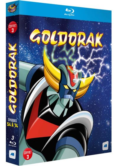 Goldorak - Coffret 3 - Épisodes 54 à 74 (Non censuré) - Blu-ray