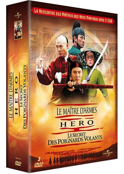 Coffret Asiatique - Le maître d'armes + Hero + Le secret des poignards volants (Pack) - DVD