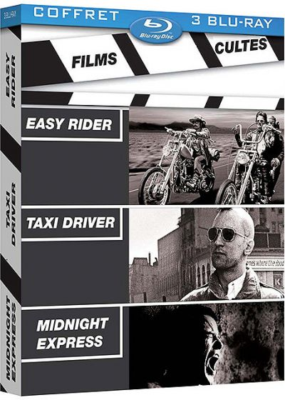Films cultes - Coffret - Easy Rider + Taxi Driver + Midnight Express (Pack) - Blu-ray