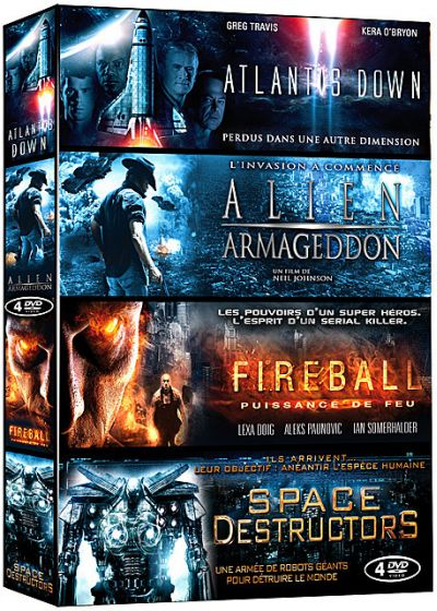 Science Fiction - Coffret 4 films : Atlantis Down + Alien Armageddon + Fireball + Space Destructors (Pack) - DVD