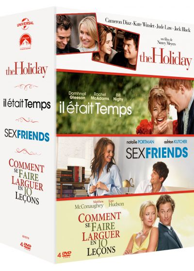 Coffret : The Holiday + Il était temps + Sex Friends + Comment se faire larguer en 10 leçons (Pack) - DVD