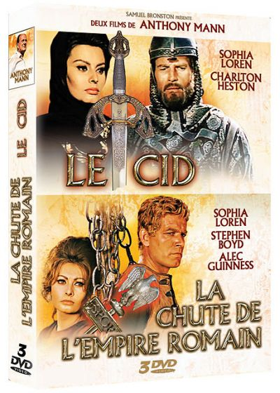 Coffret Anthony Mann : La chute de l'empire romain + El Cid - DVD