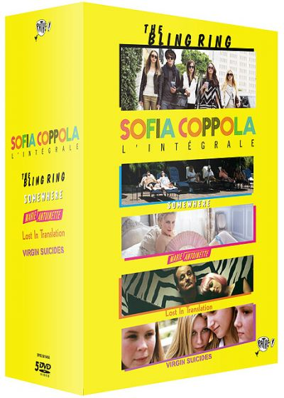 Sofia Coppola, l'intégrale - Coffret 5 films : The Bling Ring + Somewhere + Marie-Antoinette + Lost in Translation + The Virgin Suicides - DVD