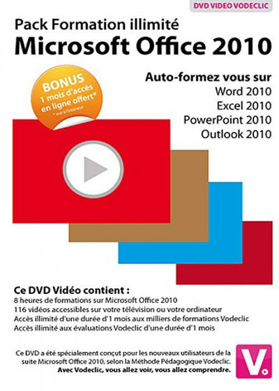 Pack Formation Illimité Microsoft Office 2010 - DVD