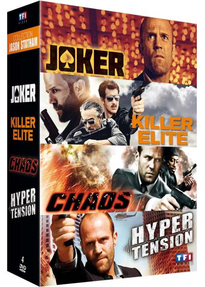 Collection Jason Statham : Joker + Killer Elite + Chaos + Hyper Tension (Pack) - DVD