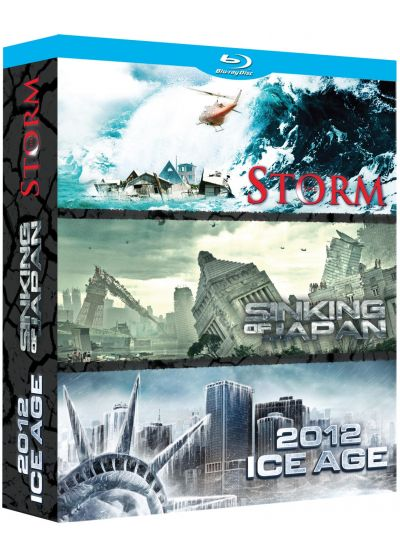 Catastrophe : The Storm + Sinking of Japan + 2012 : Ice Age (Pack) - Blu-ray