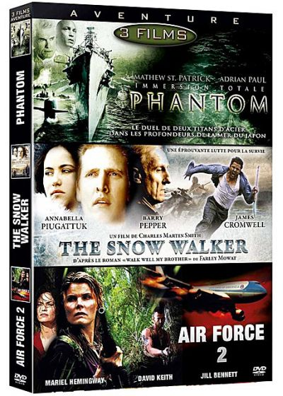 Aventure - Coffret 3 films : Phantom + The Snow Walker + Air Force 2 (Pack) - DVD