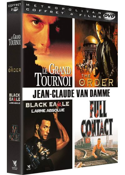 Jean-Claude Van Damme : Black Eagle - L'arme absolue + Full Contact + The Order + Le grand tournoi (Pack) - DVD