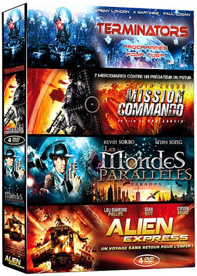 Invasions - Coffret 4 films : Terminators + Mission Commando + Les mondes parallèles + Alien Express (Pack) - DVD