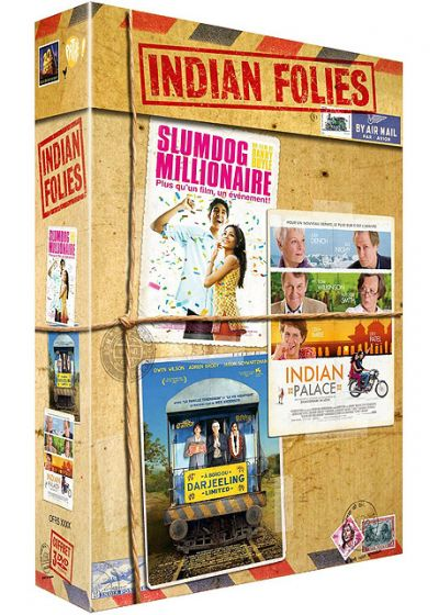 Indian Folies : Indian Palace + A bord du Darjeeling Limited +  Slumdog Millionaire (Pack) - DVD