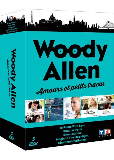 Woody Allen - Amours et petits tracas : To Rome With Love + Minuit à Paris + Magic in the Moonlight + Blue Jasmine + L'homme irrationnel (Pack) - DVD