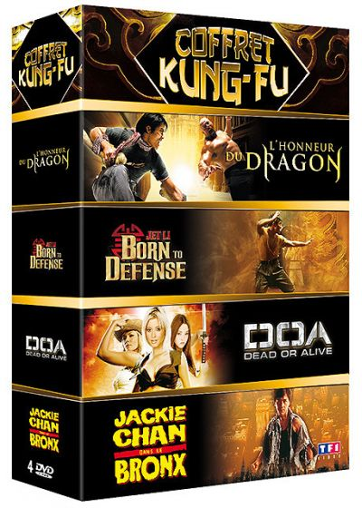 Coffret Kung-Fu - L'honneur du dragon + Born To Defense + DOA + Jackie Chan dans le Bronx (Pack) - DVD