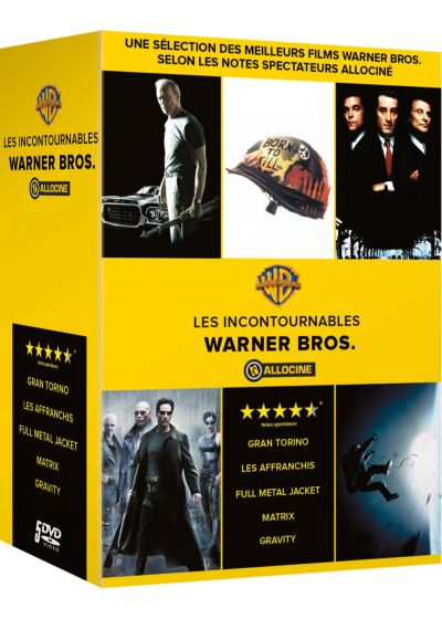 Allociné - Top 5 des films Warner : Full Metal Jacket + Gravity + Gran Torino + Les affranchis + Matrix (Pack) - DVD