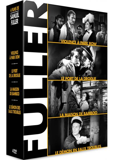 Samuel Fuller - Coffret 4 films : Violences à Park Row + Le Port de la drogue + La Maison de bambou + Le Démon des eaux troubles (Pack) - DVD