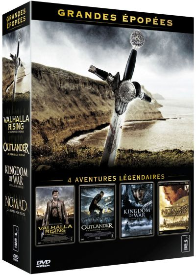 Grandes épopées - Coffret - Valhalla rising + Outlander + Kingdom of War + Nomad - DVD