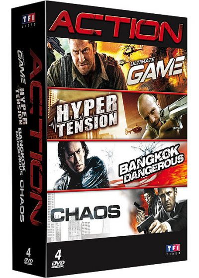 Coffret Action : Ultimate Game + Bangkok Dangerous + Next + Hyper tension (Pack) - DVD