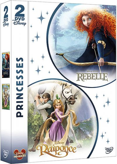 Princesses - Rebelle + Raiponce (Pack) - DVD