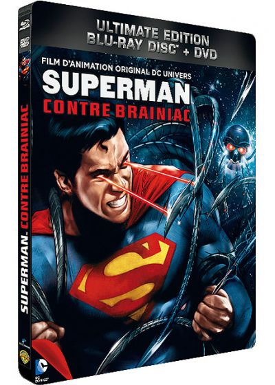 Superman contre Brainiac (Combo Blu-ray + DVD - Édition boîtier SteelBook) - Blu-ray