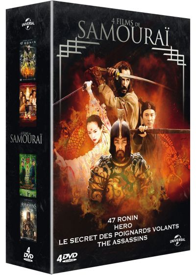 4 films de samouraï : 47 Ronin + Hero + Le secret des poignards volants + The Assassins (Pack) - DVD